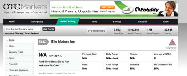 Coming To A Stockmarket Near You Elio Owners